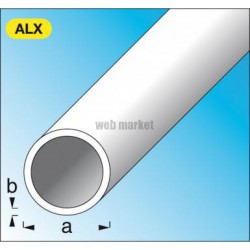TUBE ROND 10X1 ALU ARGENT 1M