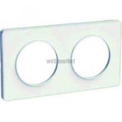 ODACE PLAQUE 2P TOUCH BLANC