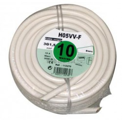 CABLE HO5VVF 2X1,5 BLC 10ML