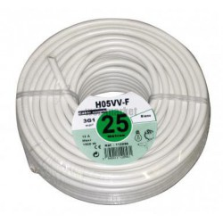 CABLE HO5VVF 3G1,5 BLC 25ML