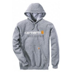 SWEAT CAPUCHE LOGO GRIS L